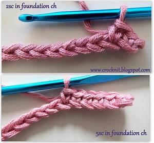 Foundation Single Crochet Instructions