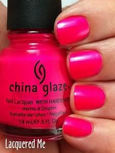 Lacquered Me China Glaze Purple Panic neon Pink Wednesday