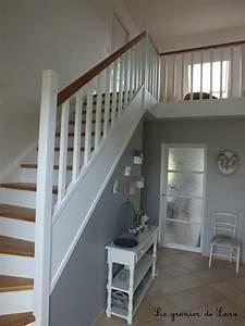 escalier broc et patine le grenier de sara With peindre escalier bois en blanc 4 conseil pour couleur escalier et portes