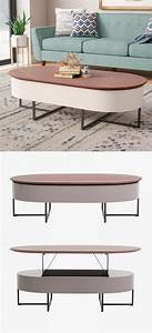 36 mid century modern coffee tables that steal centre stage With mid century lift top coffee table