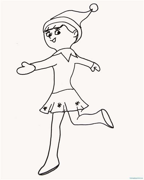 Free Elf On The Shelf Printable Coloring Pages Coloring