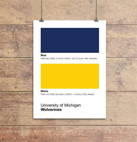 michigan wolverines colors print sproutjam