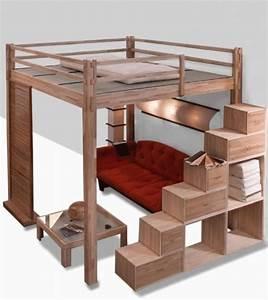 Lit 2 Places But : lit mezzanine 2 places id ale dans une chambre ~ Teatrodelosmanantiales.com Idées de Décoration