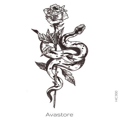tatouages temporaires avastore rose  serpent