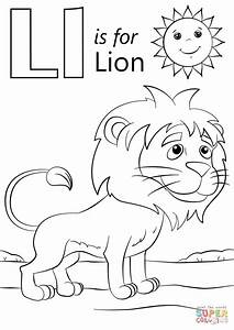 L Is For Lion Coloring Page Free Printable Coloring Pages