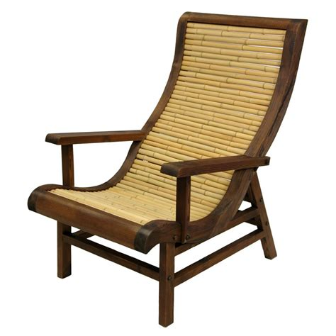 furniture curved japanese bamboo sun chair w
