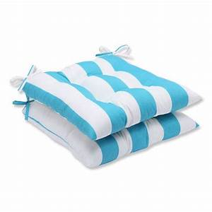 Green striped outdoor cushion