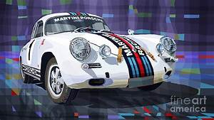 Porsche 356 Martini Racing Digital Art by Yuriy Shevchuk