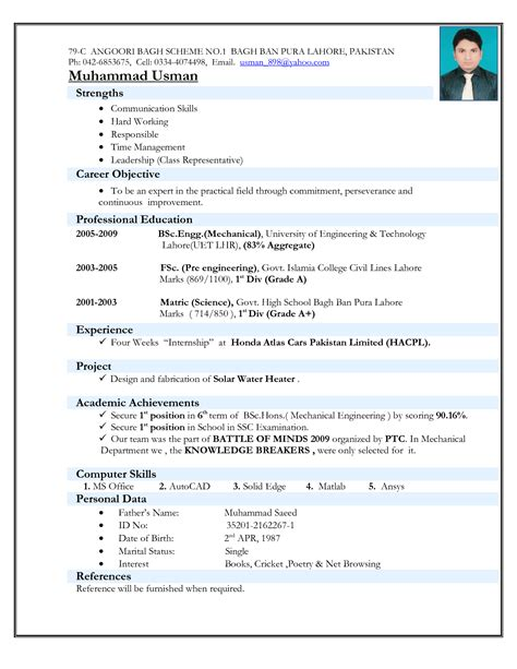 resume templates for mechanical engineers resume ideas