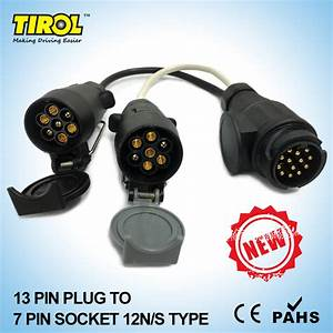 Tirol 13 Pin Euro Plug To 12n 12s 7 Pin Sockets Caravan