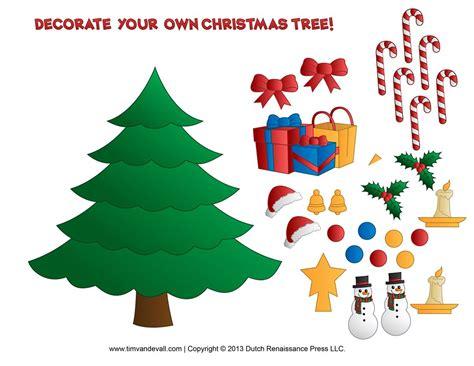 Printable Paper Christmas Tree Template, Clip Art