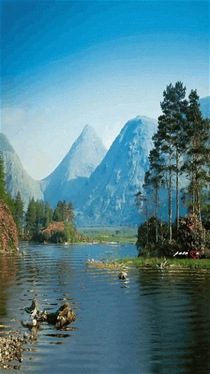 Nature Gifs Mountains Graphics Animated Animation Code