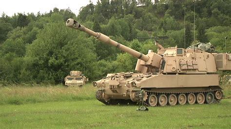 Paladin tank Firing gun Stock Video Footage - Storyblocks