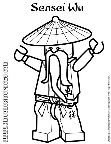 ninjago coloring pages ninjago sensei wu coloring
