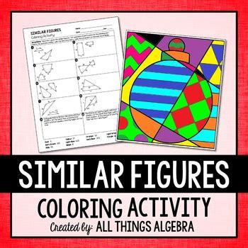 similar figures coloring activity    algebra tpt
