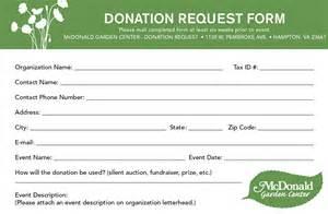 Pledge Sheet Template Donation Requests Mcdonald Garden Center