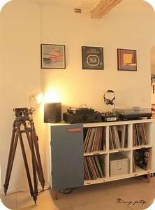Meuble Pour Vinyle : 1 ikea hacking console pour sa platine vinyle meuble hifi meuble vinyle et haut parleurs ~ Teatrodelosmanantiales.com Idées de Décoration