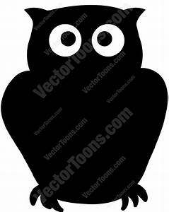 Black Owl Cartoon Clipart - Vector Toons