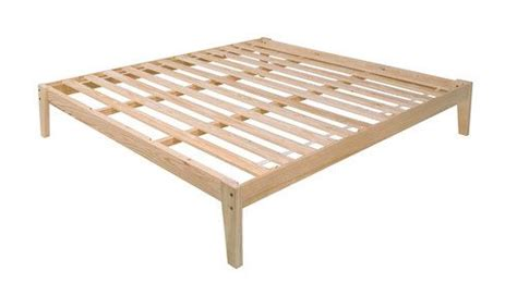 King Size Pine Wood Platform Bed Frame