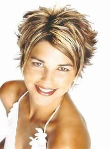 Coupe Courte Avec Meche : coupe courte avec des m ches blonde et chocolat ~ Nature-et-papiers.com Idées de Décoration