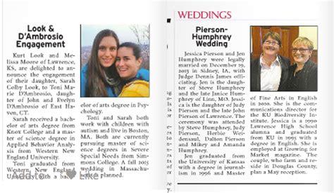 Ljworld Prints Same-sex Wedding, Engagement Announcements