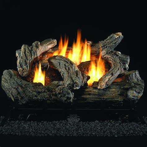 gas fireplace logs 24 quot gas log set dual fuel with remote 34 000 btu