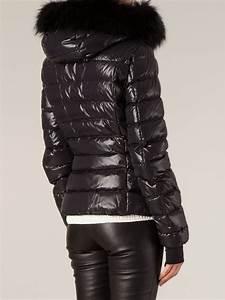 Black Coat With Black Fur Hood JacketIn