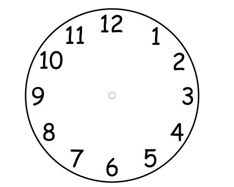 Clock Template Blank Clock Faces Templates Printable Shelter