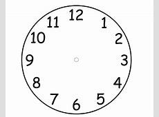 Blank Clock Faces Templates Printable Shelter