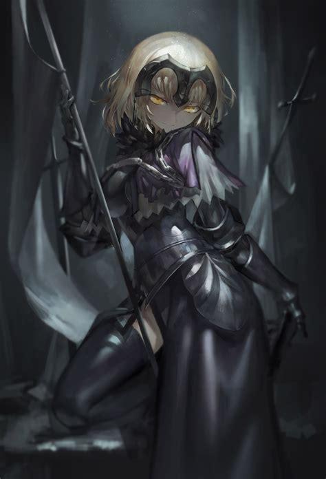 wallpaper anime girls weapon armor sword death fate
