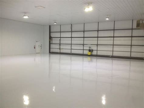 White Epoxy Garage Floor Coating   DIY Flooring