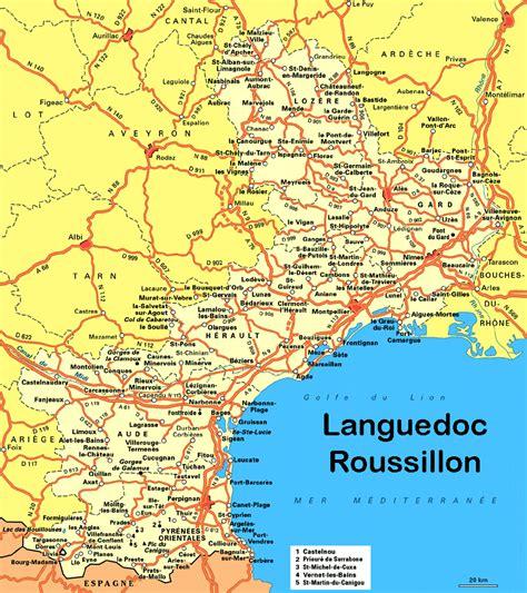 Carte Sud Montpellier by Info Camargue Carte De
