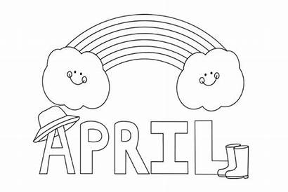 April Coloring Pages Printable Showers Toddlers Sheets