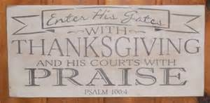 enter his gates with thanksgiving and his courts with praise 24 x 11 5 quot stencil