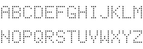 Dot Matrix Normal Font Download
