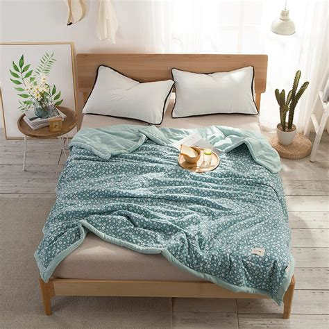 White Blanket Cover by Korean Style Small Fresh White Print Blanket Comforter Bed
