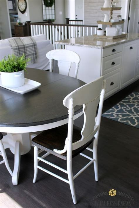 style kitchen table and chairs farmhouse style painted kitchen table and chairs makeover