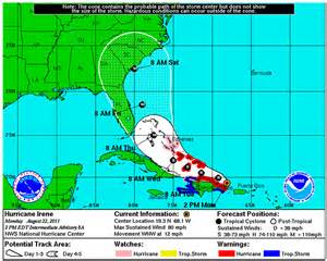 2016 Florida Hurricane Map
