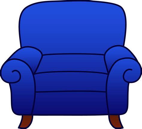 Blue Armchair Clipart  Free Clip Art