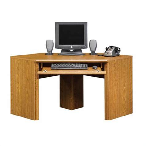 wood corner computer desk sauder orchard hills small corner wood carolina oak