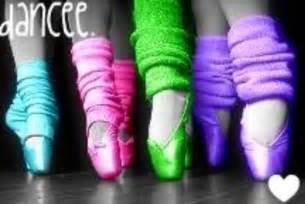 Ballet Pointe Shoes Neon