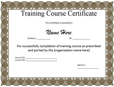 Traininb Certificate Template by 11 Free Sle Training Certificate Templates Printable