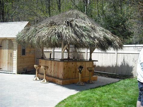tiki hut kits higganum ct 8x8 custom cedar tiki bar 10 x 10 tiki