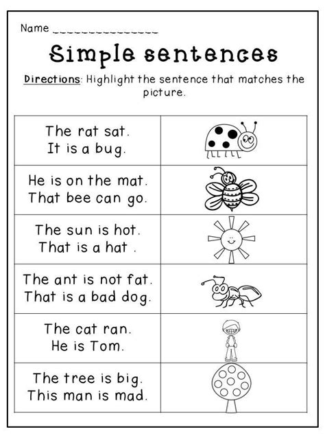 kindergarten english worksheets educational coloring