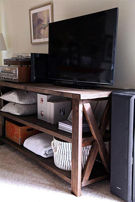 farmhouse tv console table california peach diy farmhouse media console
