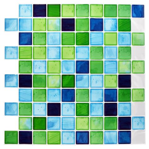 self adhesive mosaic tiles mosaic tile stickers self adhesive 10x10in bathroom