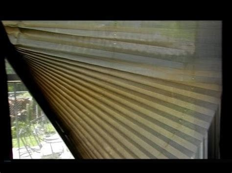repair  pleated shade youtube
