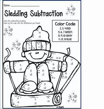 Subtraction Grade Coloring Worksheets 2nd Worksheet Worksheetschool