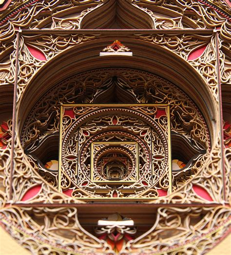 amazingly detailed laser cut paper art  eric standley