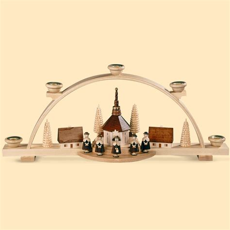 german candle arch carolers small village length 47 cm 19 inch natural original erzgebirge